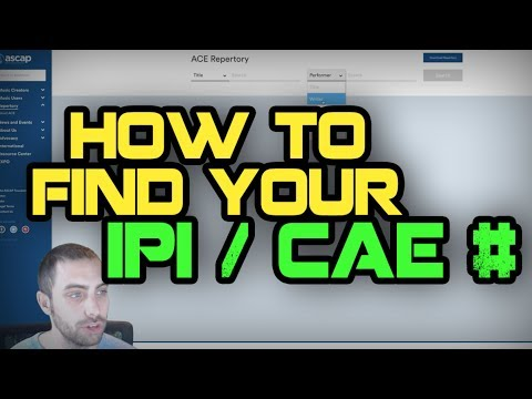 How To Find Your CAE/IPI# With ASCAP & BMI