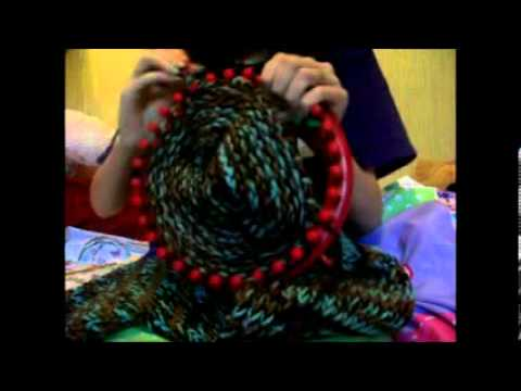 HOW TO LOOM KNIT A SCARF PART 2 FINISHING THE SCARF