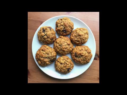 Honey Oatmeal Cookies - Healthy Vegetarian Breakfast Recipe
