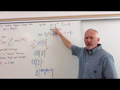 Finding Upper & Lower Sum of a Region (Upper Sum & Limit Definition)