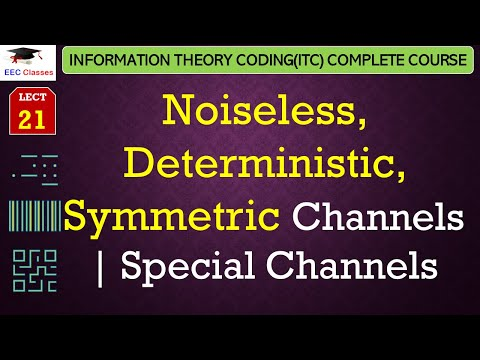 Special Channels – Noiseless, Deterministic and Symmetric Channels with solved example