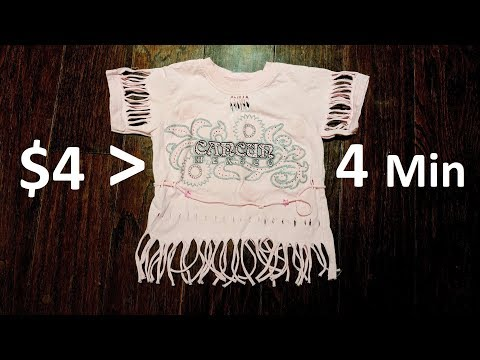 Guy Turns $4 T-Shirt Awesome in 4 Minutes