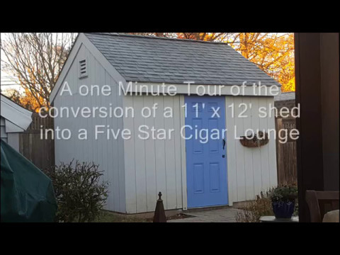 Shed Conversion to 5 Star Cigar Lounge