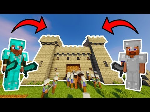 Minecraft FORTRESS INVASION!! (3 BATTLES!) • Minecraft War Mod