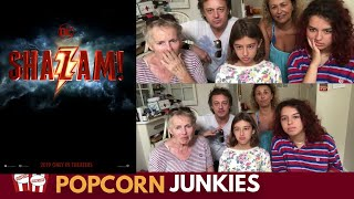 Shazam Official Teaser Trailer - Nadia Sawalha & Family Reaction & Review