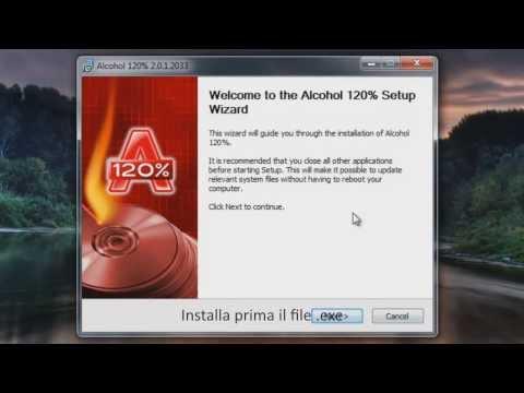 Alcohol 120% Download e guida installazione .ISO