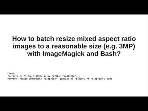 Batch resize big images with ImageMagick to 3MP in Bash
