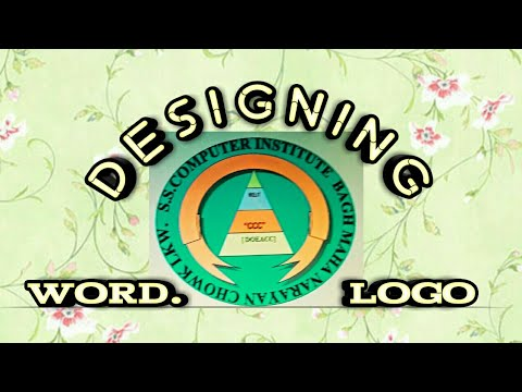 Word 2003#how to create a logo using word art & auto shapes  {Tutorial Hindi} By-Modern Technology