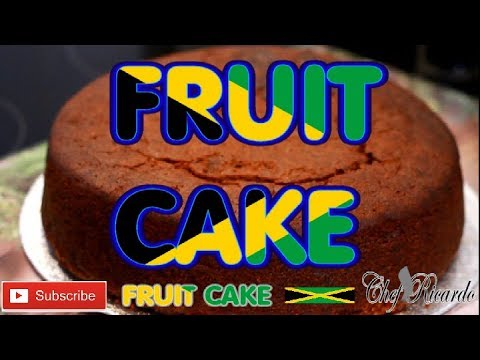 This Is My Authentic Jamaica Style Fruit Cake | Recipes By Chef Ricardo