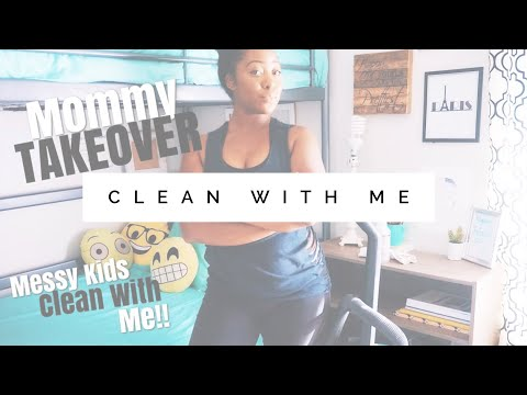 EXTREME CLEAN WITH ME!!! MESSY KIDS ROOM// MOM CLEANS KIDS ROOM