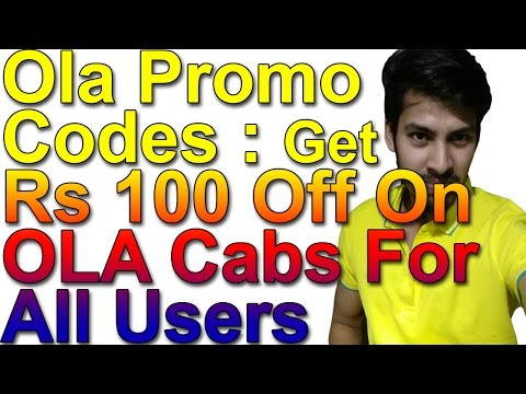 Ola Promo Codes : Get Rs 100 Off On OLA Cabs For All Users - Mini/Sedan/Pride Ride For All Users