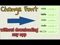 WhatsApp Tricks Change fonts without downloading any app!