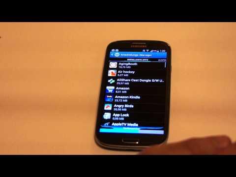 Galaxy S3 Android Apps deinstallieren-für Anfänger-