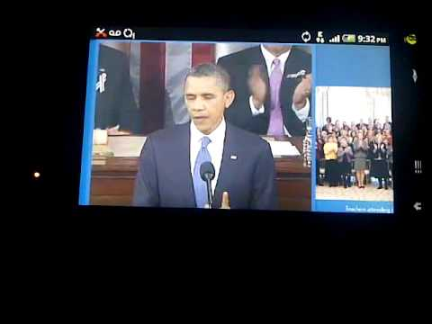 State of the union using my Mytouch on America's Largest 4G Network T-Mobile 1/25/2011