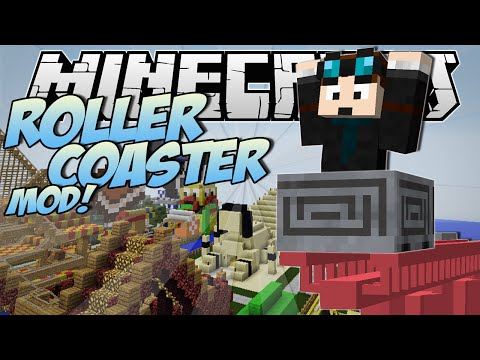 Minecraft | ROLLERCOASTER MOD! (Become a Rollercoaster Tycoon!) | Mod Showcase