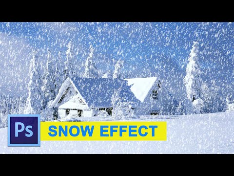 Photoshop Tutorial: Snow Effect 2016 - Easy and Fast