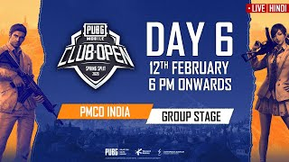 [Hindi] PMCO India Group Stage Day 6   Spring Split   PUBG MOBILE CLUB OPEN 2020