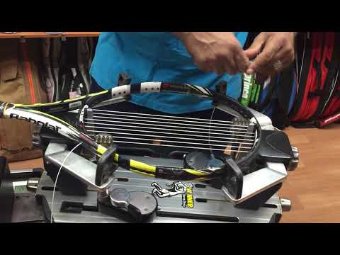 stringing tennis racket(how to start the main)