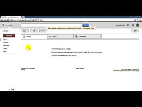 How to Set Standard View for your Gmail Account