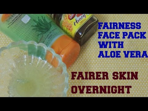 Get fair skin overnight in 10 minutes with this miracle Aloe vera face pack