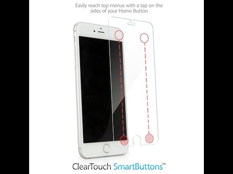 BoxWave iPhone 6 6S Plus Smartbutton Tempered Glass Screen Protector - Apple