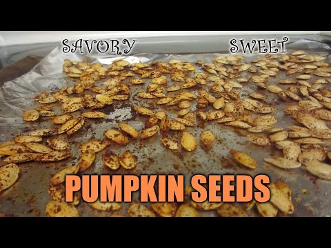 How to Make Pumpkin Seeds TWO WAYS (SAVORY & SWEET)