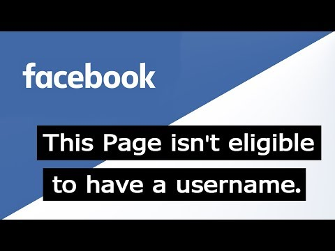 [Fixed] This Page isn't eligible to have a username