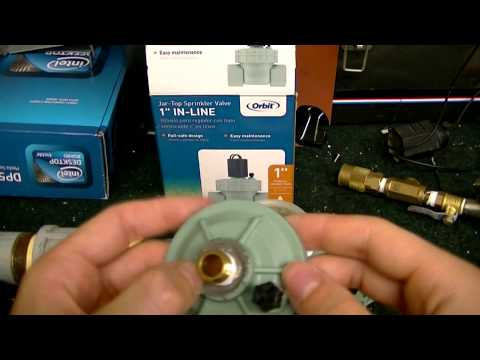 How to modify an orbit sprinkler valve for use with a pneumatic air cannon