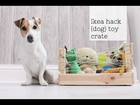 Ikea crate hack to (dog) toy storage