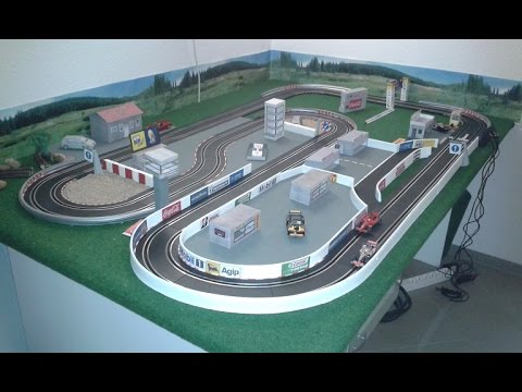 How to Build a Carrera Slot Car Track / Do It Yourself Scenery / DIY Model Building 2016
