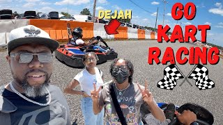 Go Kart Racing With My Girls | THIS WAS CRAZY FUN! 🏁
