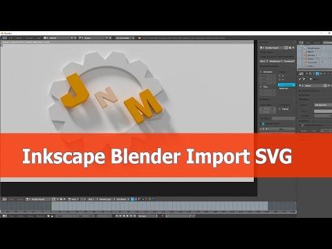 Blender Import svg from Inkscape tutorial