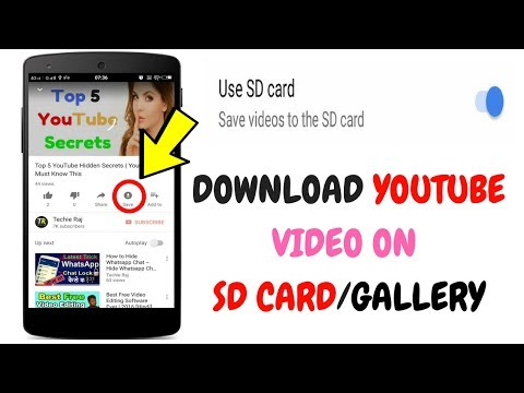 How to save YouTube video to Gallery/SD Card | How to Save Offline Video to Gallery/SD Card