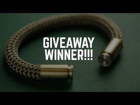Bullet Bracelet Giveaway Winner