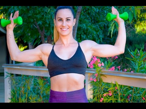 Arms Workout and Shoulder Workout - Upper Body Workout with Weights at Home - Dumbbell Exercises