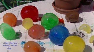 "Summer ""Frozen Orbs"" Water Balloons in the FREEZER! viewer request"