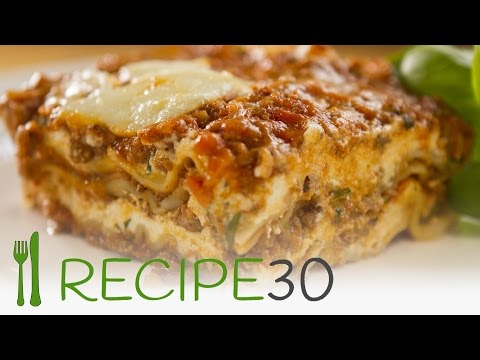Three cheese no boil lasagna recipe - By www.recipe30.com