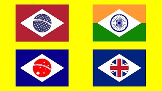 COUNTRY FLAGS in the Style of Brazil - Alternate Flags of the World