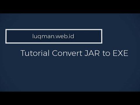 Tutorial convert .jar to .exe file