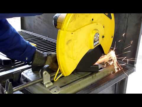 Cutting inch & a half 14 gauge square tubing