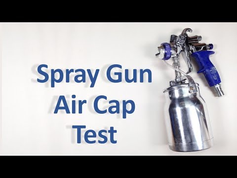 Testing Paint with Spray Gun Tips/Air Cap Sets