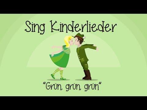 Grün, grün, grün sind alle meine Kleider - Kinderlieder zum Mitsingen   Sing Kinderlieder