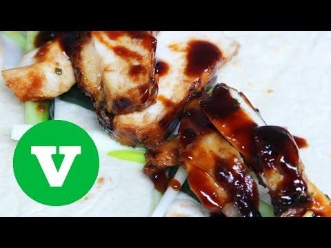 Hoisin Chicken Wraps: Asian Bites