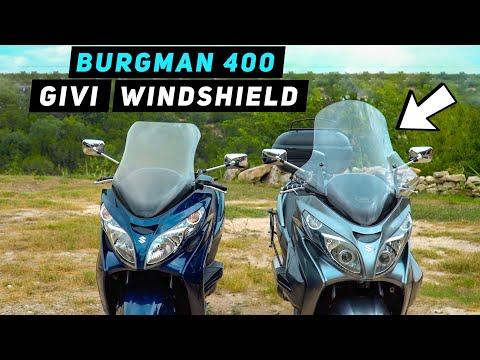 GIVI 266DT Windshield Installation - Suzuki Burgman 400