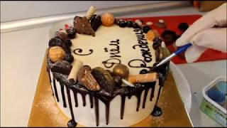 Как собрать и украсить торт на день рождения