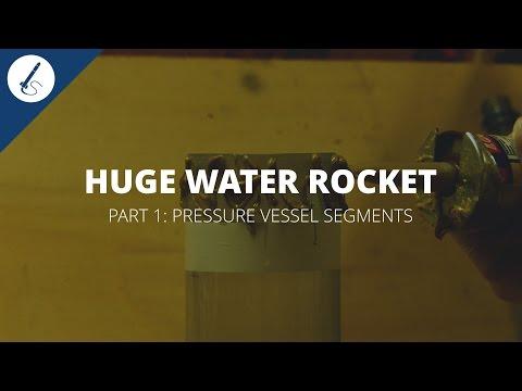 Tutorial: How to build a huge water rocket [1/5] - Splicing bottles / pressure vessel segments