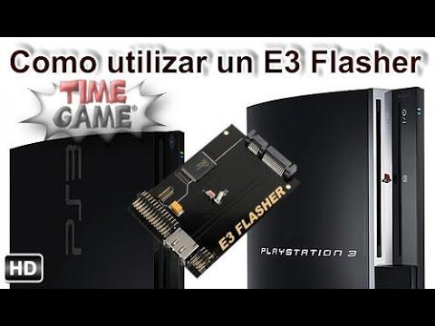 Guia para poder utilizar E3 flasher en PS3 fat / slim
