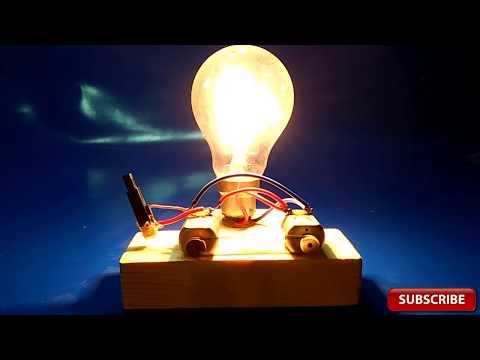 Piezo Igniter Free Energy Device Light Bulbs 220V Using 2 Motor 2018 project exhibition technology