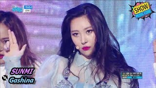 [HOT] SUNMI - Gashina, 선미 - 가시나 Show Music core 20170902