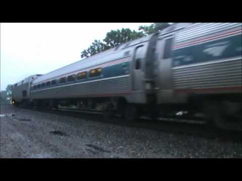Amtrak 479 And 494 Shuttle's in West Hartford, CT With CSXChas 6/22/11